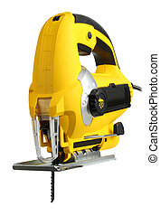 l jig saw - new professional jig saw on a white background...