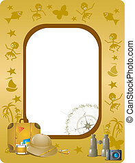 Frame - Simply place your photo or text layer below....