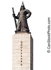 Statue of Yi Sun-Sin Seoul - Isolated of statue of Yi...
