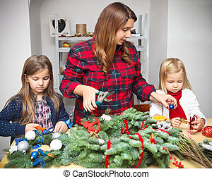 Making an advent wreath with the kids