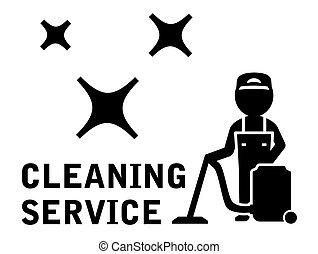 cleaning service symbol - black cleaning service symbol with...