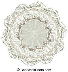 Guilloche Vector Pattern Rosette