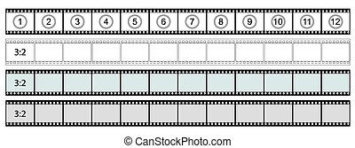 Classis Film Strip - Format 3:2 - Transparent Film Strip...