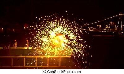 Pinwheel - Beautiful fireworks pinwheel.