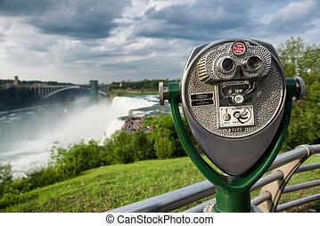 Binocular overlook Niagara Falls
