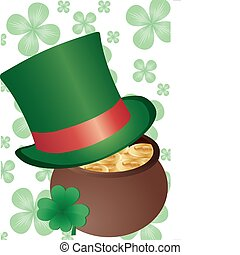 Leprecon Top Hat - Vector background with Top Hat and...