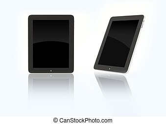 New 2010 ipad device - Technology, 3d isolated objects,...