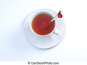 Lets have some love tea - Love, valentine day series