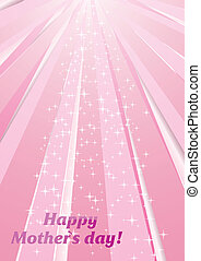 Background for Mother`s day - Vector background with strips...