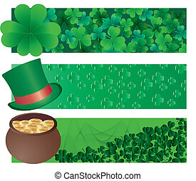 Patrick`s banners - Set of tree vector banners for St...
