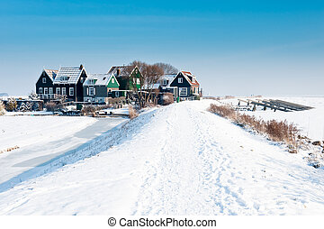 rozewerf in winter (Marken a small village near Amsterdam)