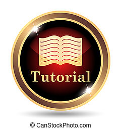 Tutorial icon Internet button on white background