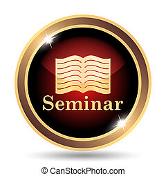 Seminar icon Internet button on white background