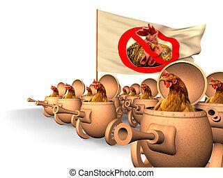 Chauvinism. Chicken uprising - Chauvinism. Chicken in tanks...