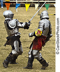 Knights at Battle - Knights battle in hand to hand combat