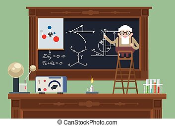 Scientist old professor