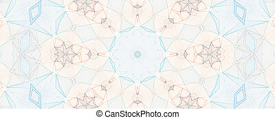 Light blue kaleidoscope background pattern