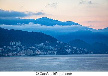 Puerto Vallarta mountain in the early morning