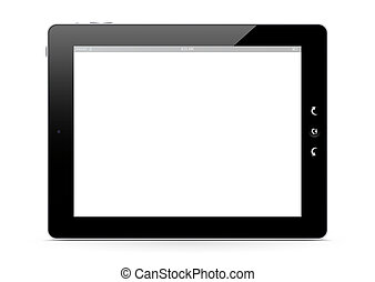 The Front of a E-Book Reader - Illustration - The Front of a...