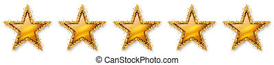 Five Stars Voting - Fifth Golden Star - Five, 5, 5th -...