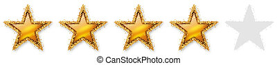 Five Stars Voting - Fourth Golden Star - Four, 4, 4th -...