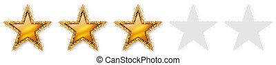 Five Stars Voting - Third Golden Star - Three, 3, 3rd -...