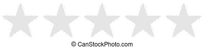 Five Stars Voting - Blank - Gray Background - Recension,...