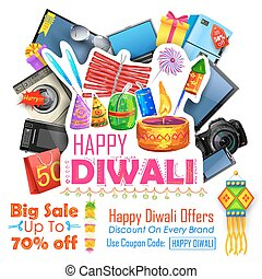 Festive Shopping Offer for Diwali holiday promotion and advertisment