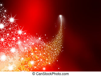 Abstract Bright Falling Star - Shooting Star with Twinkling...