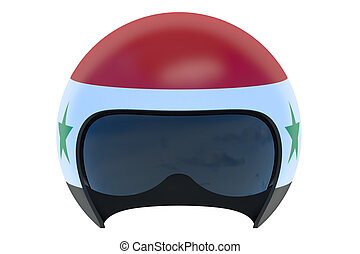 Syrian Flight Helmet isolated on white background