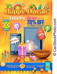 Festive Shopping Offer for Diwali holiday promotion and...