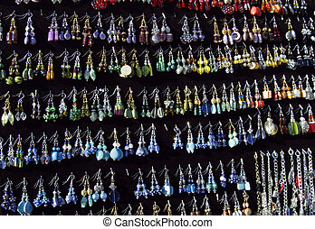 Earrings - Handcrafted earrings for sale at a flea market
