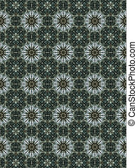 Brown Ethnic pattern Abstract kaleidoscope fabric design