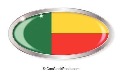 Belin Flag Oval Button