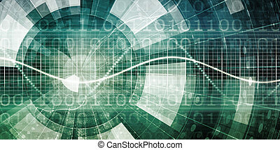 Abstract Tech Background with Business Technology Art