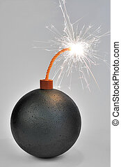 Bomb - Black ball resembling a bomb with burning fuse