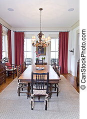 beautiful dining room - well decorated diningroom with wood...