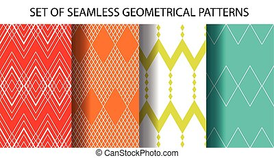 Set of 4 geometrical seamless patterns - Set of 4...