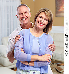 Happy elderly couple.