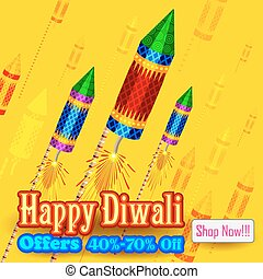 Happy Diwali Background for advertisement and promotion -...