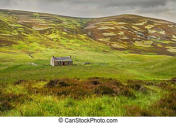 lonely home Highlands scotland Nature