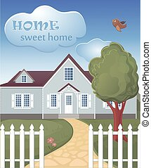 Home sweet home poster - home sweet home poster Retro sign...