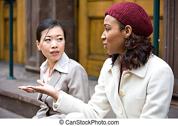 empresa / negocio, mujeres, Hablar