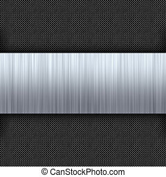 Brushed Metal Carbon Fiber - Carbon fiber background with a...
