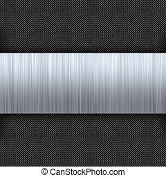 Brushed Metal Carbon Fiber - Carbon fiber background with a...