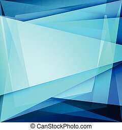 glass flow - abstract background with blue frame over...