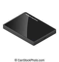 Pocket hdd isometric icon vector graphic illustration