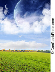 Fields of a far planet - Collage - fields of a far planet