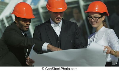 Approval of the business plan of the new building - Three...