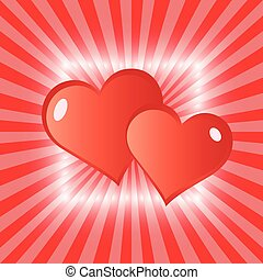 Love hearts greeting card. - Holiday Valentine's Day pattern...